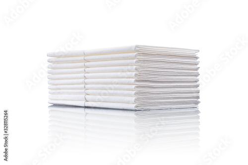 Photo ein Stapel Papiertaschentücher close up isoliert