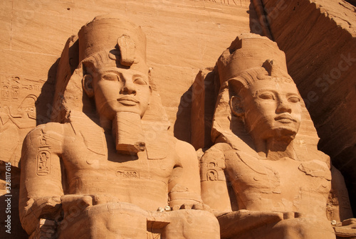 Photographie Ramses statue in Abu Simbel