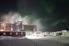 Auroras Over An Ore Processing...