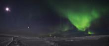 Auroras And Moon In Nunavik (C...