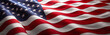 Leinwandbild Motiv American Wave Flag
