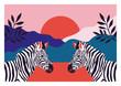 Zebras in Natur