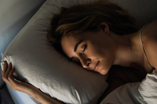 Close-up Of Young Woman Sleepi...