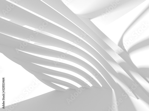 Abstract White Architecture Design Concept