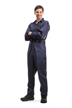 Young Male Worker In An Overal...