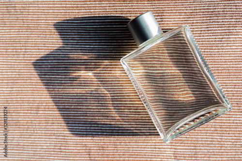 Photo Mens aftershave  with no brand on glass bottle
