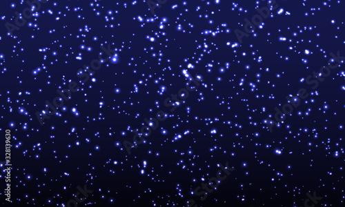 Obraz na plátně Space Stars Background. Vector Illustration