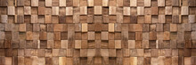Brown Wooden Cubes Texture Bac...