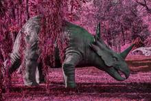 Dinosaurier In Der Natur Pink ...