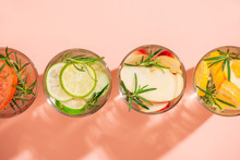 Glasses Of Detox Water With Sl...