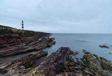 Tarbat Ness Lighthouse. Highlands, Scotland, UK.