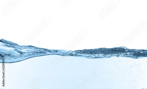 Obraz Closeup view of clear water isolated on white - fototapety do salonu