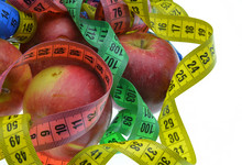 Red Apple With Measuring Tape ...