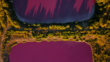 Pink Chemical Lakes With A Nar...