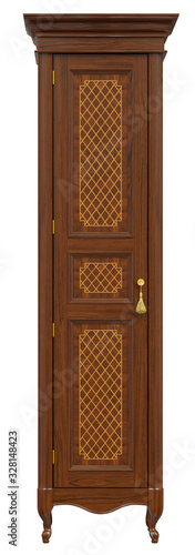 Obraz na plátně Classic wardrobe inlaid with veneer