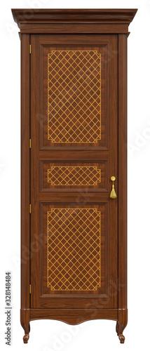 Fotografie, Obraz Classic wardrobe inlaid with veneer