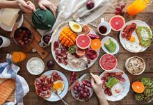 Top View Of Healthy Breakfast
