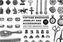 Vintage Engraved Jewelry And A...