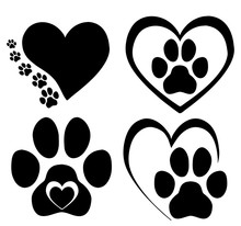 Set Of Hearts With The Paws Of...