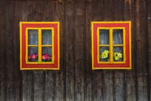 Traditional Log Cabin In Orava Region, Slovakia.