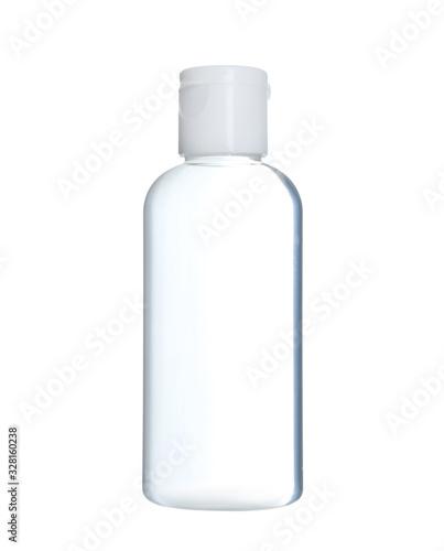 Obraz Bottle of antiseptic gel isolated on white - fototapety do salonu
