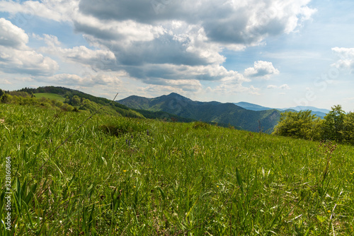 Springtime Valka Fatra mountains from Magura hill in scenery Wallpaper Mural