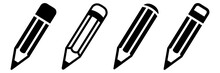 Pencil Icon Set. Vector Illust...