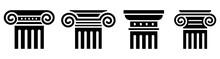 Column Icon Set. Greek Column....