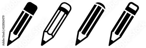 Slika na platnu Pencil icon set. Vector illustration