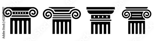 Column icon set. Greek column. Vector Tapéta, Fotótapéta