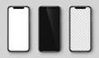 Smartphone. Realistic mobile phone. Vector