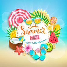 Summer 2020 Greeting Banner. B...