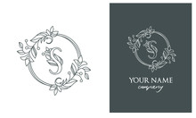 The Logo Is A Graceful And Feminine Sign. Letter S
