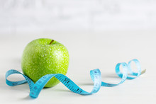 Green Apple And Tape Measure A...