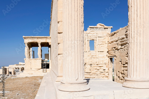 Fototapety, obrazy: View of Acropolis. Famous place in Athens - capital of Greece. Ancient monuments.