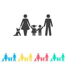 Family Multi Color Icon Set. S...