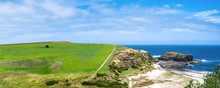 Panoramic Landscape Of Green A...