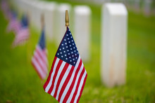 An American Flag At Cemetery O...