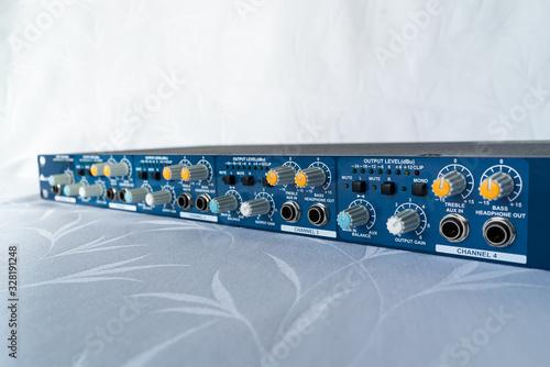 ZURICH, SWITZERLAND - MARCH 3, 2020: Headphone amplifier - studio processor Canvas Print