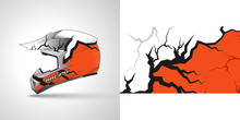 Racing Helmet Wrap Decal And V...