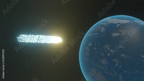 Fotografie, Obraz 地球に向かう謎の流れ星