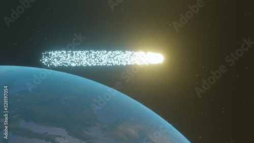 Fotografie, Obraz 地球を横切る謎の流れ星