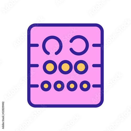 Fotografía Table check view icon vector