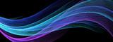 光輝く抽象的な青い波