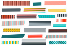 Collection Of Stripe Washi Tap...