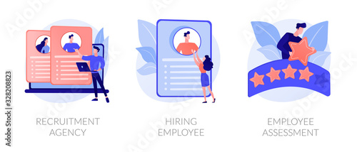 Cuadros en Lienzo Employer actions icons set