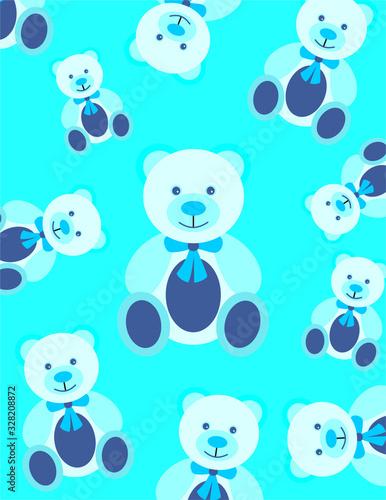 Ursinho azul Canvas Print