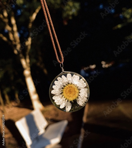 Foto close up daisy neckless