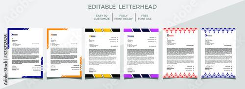 Fototapeta Letterhead Template Design, company letterhead design. obraz