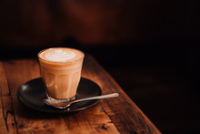 Mug Of Flat White Coffee With ...